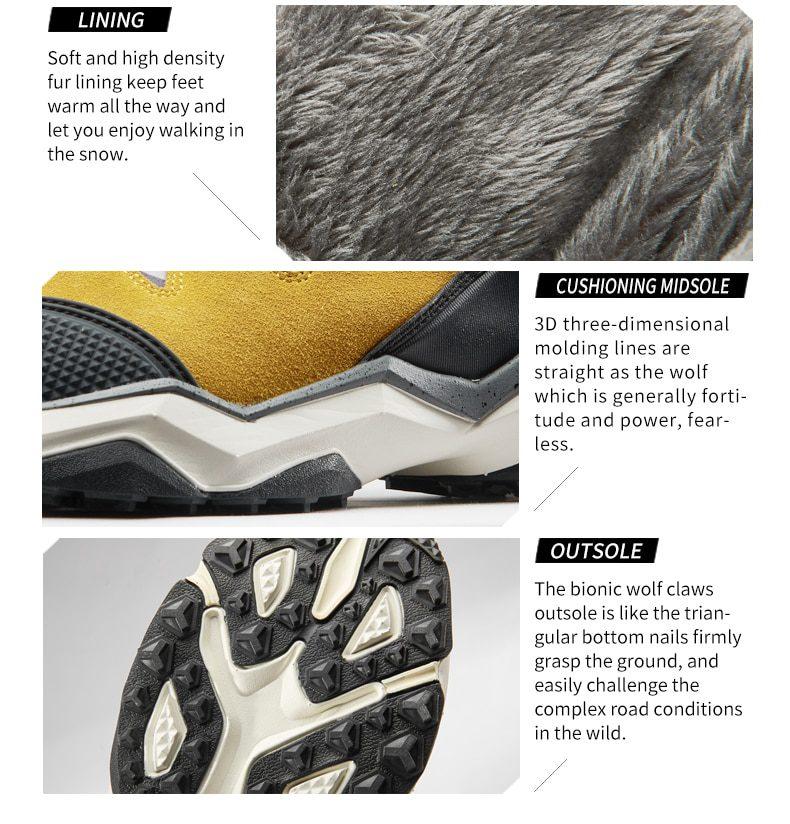 RAX Waterproof Fur Lining Snow Boots